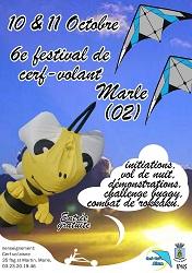 Affiche du festival de Cerfs-Volants de Marle 2015